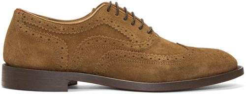 H By Tan Suede Heyford Brogues