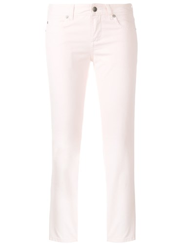 Cropped Fitted Trousers Pink And Purple