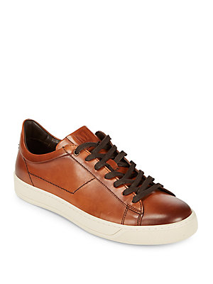 Bruno Magli Warren Leather Sneakers Cognac NMt4aK