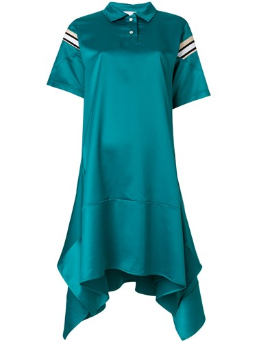 Koche Oversized Polo Style Dress Green O65XSjorZj