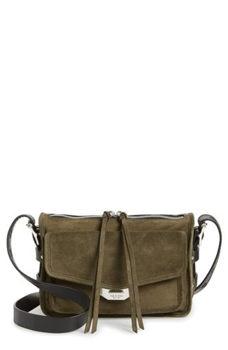 Bone Green Bag Rag Field and Small Olive Messenger Leather Suede 1440qPw5