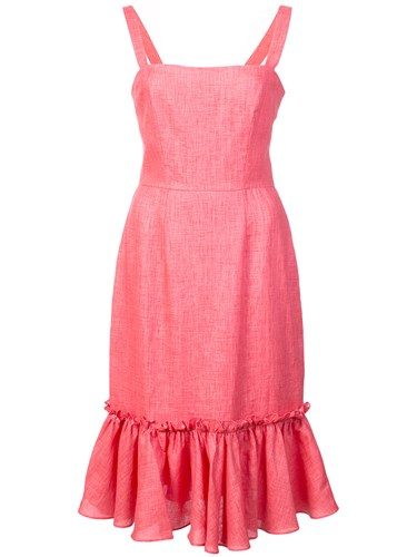 Ruffled Ruffled Hem Red Hem Milly Milly Red Red Milly Hem Dress Ruffled Dress Milly Dress w7Pt7Cq