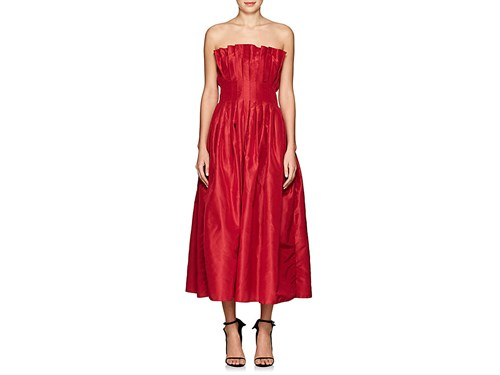 Azeeza Silk Dress Strapless Women's Cocktail Poppy Red AAqSafZxw