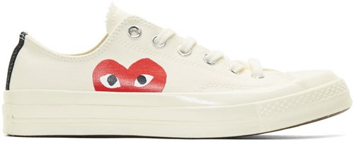 Comme des Garcons Play Off White Converse Edition Chuck Taylor All Star 70 Sneakers 1HE76hE