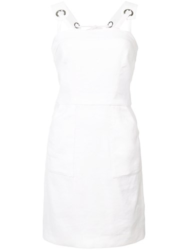 Milly Short Fitted Dress White xtH61V