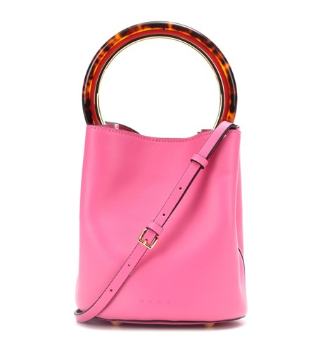 Marni Leather Leather Bag Shoulder Bag Marni Pink Leather Marni Shoulder Pink Shoulder 64wf4q