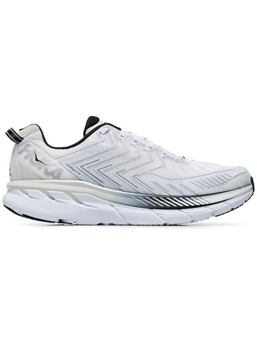 Hoka One One White Clifton 5 Sneakers DIJl7JHp