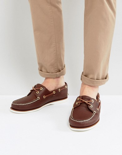 Timberland Classic Leather Boat Shoes Brown nENnZ
