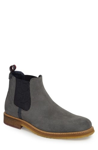 Suede Baker Chelsea Boot Bronzo Ted London Grey YvqpC