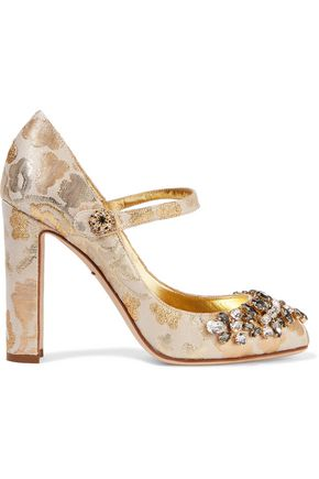 Metallic Gabbana amp; Dolce Brocade Gold Pumps Embellished CStwPq
