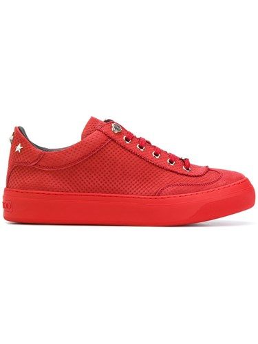 Jimmy Choo Ace Sneakers Men Calf Leather Leather Rubber 39 Red cyHZ3wV