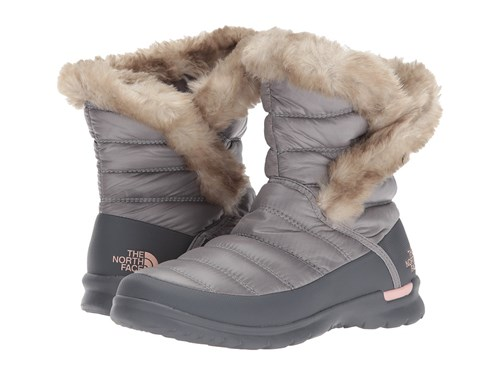 The North Face Thermoball Microbaffle Bootie Ii Shiny Coffee Bean Brown Dune Beige Women's Pull On Boots Gray 1Kou79lSX