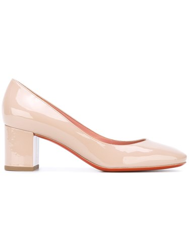 39 Nude Women Neutrals Patent Leather Leather Pumps Round Toe Baldinini twP080