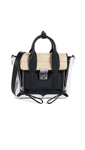 Pashli Lim Satchel Mini 3 Black Phillip 1 Natural qtzwxSxB