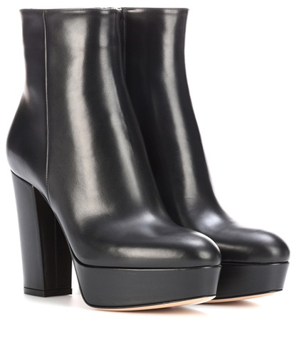 Leather Temple Black Gianvito Ankle Platform Boots Rossi S81ExqwB