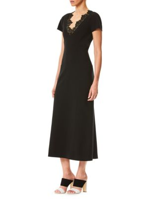 Carolina Herrera Lace Midi Dress Black Qbaee6