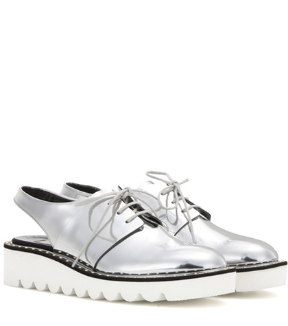 Cut Platform Silver Derby Shoes Stella Scarpa McCartney Out qtwUgTg