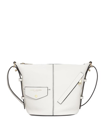 Marc Jacobs The Sling Mini Stitched Shoulder Bag White Glow DJS51