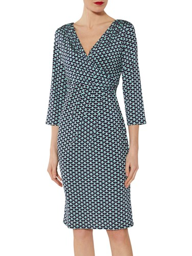 Fabiana Navy Green Bacconi Gina Jersey Dress 1apxq5wTf