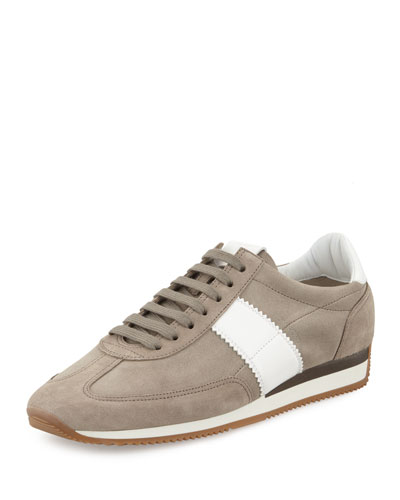 Tom Ford Orford Suede Trainer Sneaker Grey qHzV5J