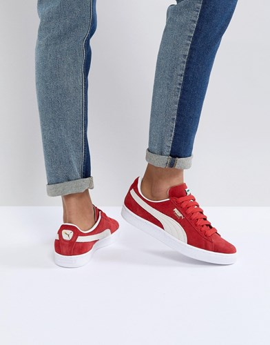 Puma Suede Trainers In Red Red qysmPHH9S