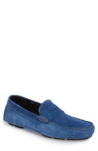 To Boot New York Jackson Penny Driving Loafer Blue Suede gTauAE