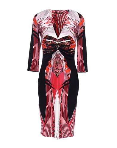 Dresses Roberto Black Knee Cavalli Length xwCOq1FY