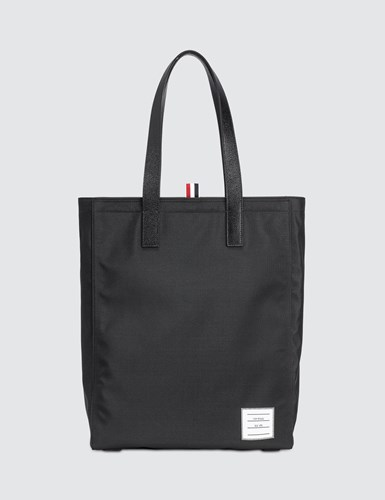 Thom Browne Nylon Plain Weave And Pebble Grain Leather Unstructured Tote With Leather Trim QeuNLyG