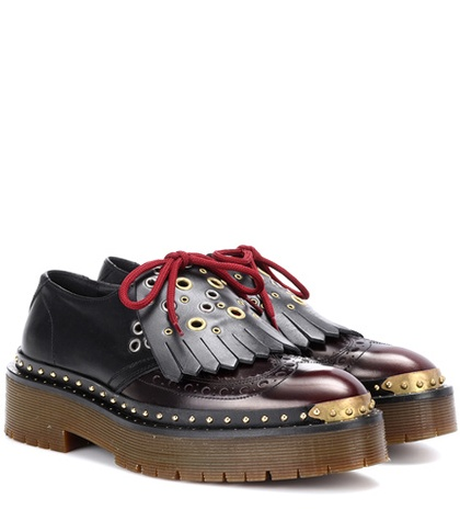 Burberry Brown Platform Platform Burberry Brogues Burberry Brown Leather Leather Brogues dfqwt5fv