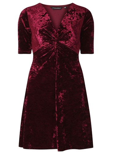 Dorothy Perkins Berry Velvet Fit And Flare Dress rWpQT