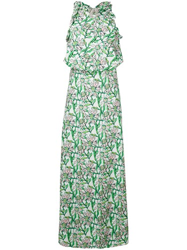 Dodo Bar Or Floral Print Maxi Dress White T5GScH