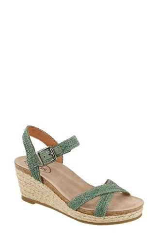 'S Sandal Leather Wedge Espadrille Taos Sage Hey Jute R4adnq6