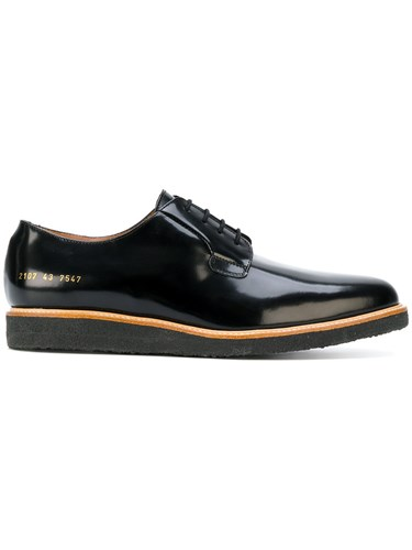 Patent Black Leather Projects Common Derby Classic Rubber Leather Shoes fwvqx8X