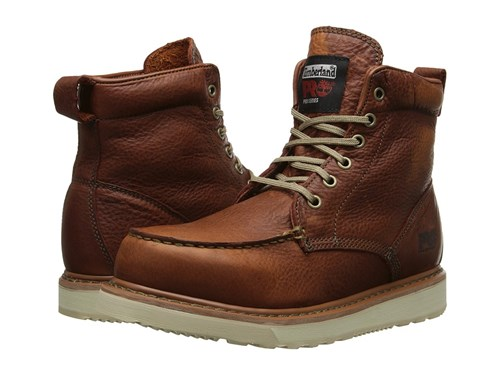Timberland Pro R 6 Wedge Rust Full Grain Leather Men's Work Lace Up Boots Brown IynLwpTlr