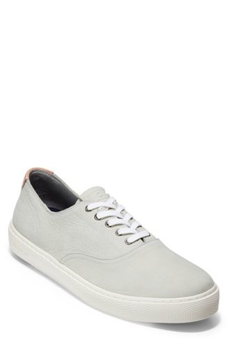 Cole Haan Grandpro Deck Low Top Sneaker White Nubuck Leather W1U7tmA3