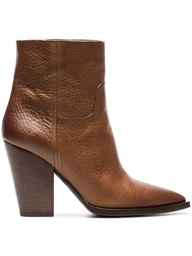 Boots Saint Laurent Leather 95 Cowboy Brown Theo wTqHY