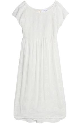 Velvet by Graham & Spencer Embroidered Gauze Dress Off White Off White YJZNel