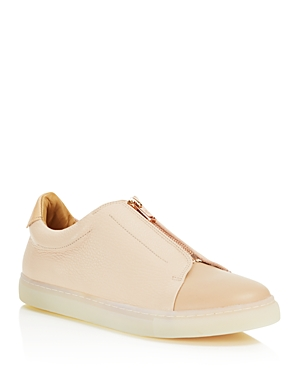 Pairs In Paris Women's Belleville Leather And Suede Zipped Sneakers 100 Exclusive Nude Pink b1eft3mQM