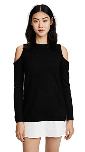 re:named Cold Shoulder Sweater Dress Black oMJNJL