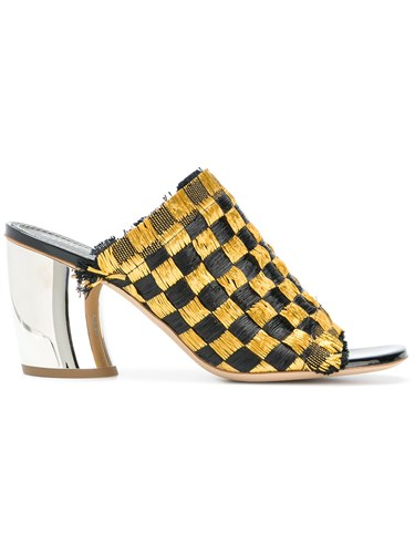 Proenza Schouler Woven Mid Heel Mules Yellow And Orange iltqQ2zUPQ
