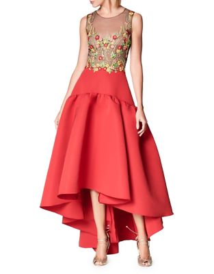 Marchesa Embroidered Hi Lo Ball Gown wSgEGf4