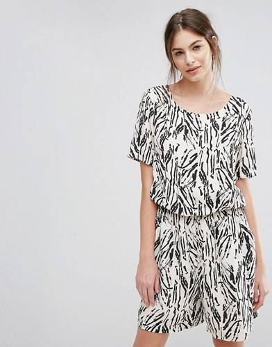 Black Playsuit Maxi Selected Selected Printed Printed wqTPnHF14