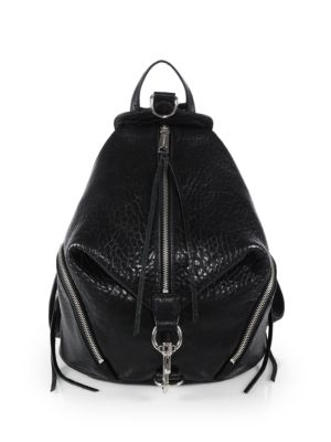 Rebecca Minkoff Leather Julian Black Backpack rrvdxqw8
