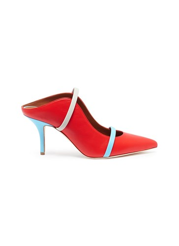 Malone Souliers Leather Red Mules Strappy 'Maureen' xYzq8wrYv