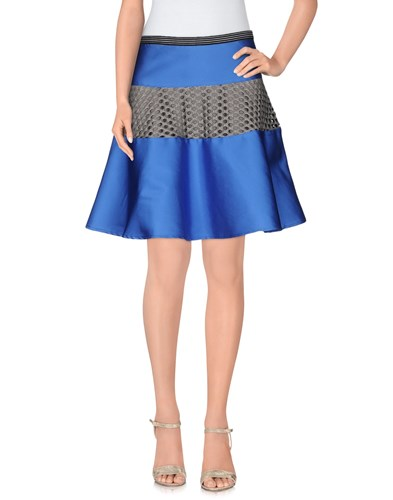 Knee Length Skirts Blue