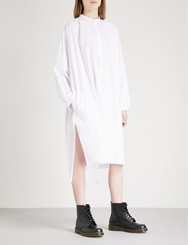 Ys Cotton Shirt Dress White WnijJv988Q