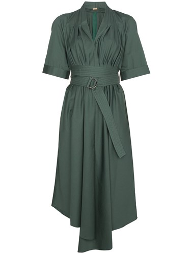 Green Dress Cotton Asymmetric Lippes Adam Midi ADAM by Cotton x18qwfCngp