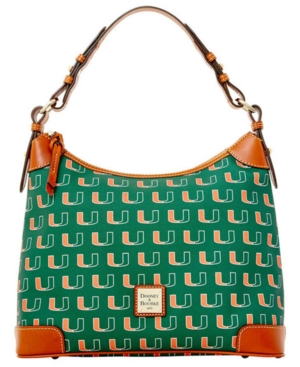 Dooney & Bourke Miami Hurricanes Hobo Bag Green 8xt4HKbp