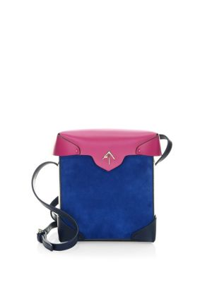 MANU Atelier Pristine Leather And Suede Micro Messenger Bag Multi mAFHAXiDDP