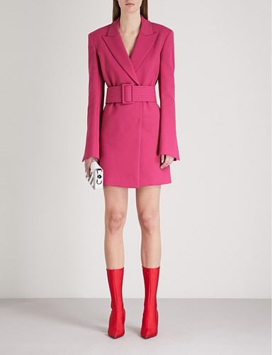 Virgil Fit c Crepe Off Abloh White Blazer Tailored Fuchsia o Dress YqqwHngFxa